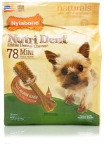 Nylabone Nutri Dent Dental Chews Filet Mignon (78 Mini)