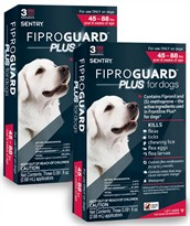 6-PACK Fiproguard Plus Flea & Tick Squeeze-On for Dogs 45-88 lbs