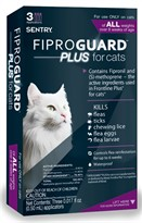 3-PACK Fiproguard Plus Flea & Tick Squeeze-On for Cats
