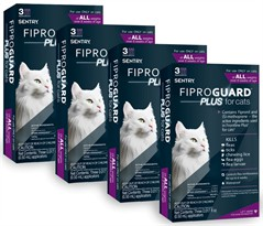 12-PACK Fiproguard Plus Flea & Tick Squeeze-On for Cats