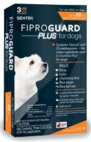 3-PACK Fiproguard Plus Flea & Tick Squeeze-On for Dogs Upto 22 lbs