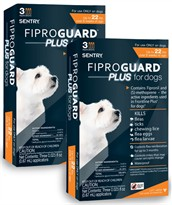 6-PACK Fiproguard Plus Flea & Tick Squeeze-On for Dogs Upto 22 lbs