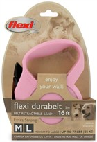 Flexi Durabelt Belt Retractable Leash - Medium/Large 77 lbs. - Pink/Rose 16 ft.