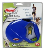Flexi Classic Long Retractable CORD Leash for Dogs up to 44 lbs.