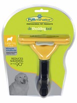 FURminator Long-Hair deShedding Tool for LARGE Dogs