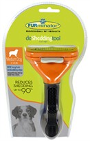 FURminator Long-Hair deShedding Tool for MEDIUM Dogs