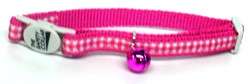 Gingham Cat Collar � Magenta