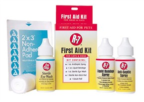 Miracle Care R-7 First Aid Kit for Cats & Dogs (5 piece kit)