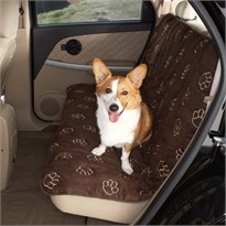 Guardian Gear Pawprint Car Seat Cover - Chocolate (4x22x14 In)