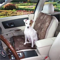 Guardian Gear Pawprint Single Seat Car Seat Cover - Charcoal (3.3x12.8x12.5 In)