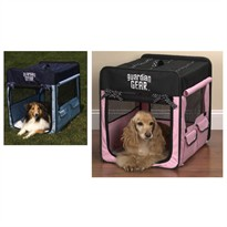 Guardian Gear Polka Dot Collapsible Crate Small - Pink