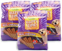 3-PACK Nylabone Happy Time Chicken Dog Treats - Small (54 count)
