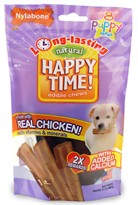 Nylabone Happy Time Chicken Dog Treats - Puppy  (8 count)