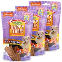 3-PACK Nylabone Happy Time Chicken Dog Treats - Puppy  (24 count)