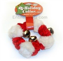 "Holiday Collar w/ Bell Medium (6""-12"")"
