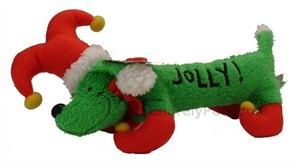 "Holiday ""Hot Dogs"" Holly Jolly Hound (13 in)"