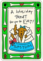 "Crunch Cards ""Holiday Treat for you to Eat"""