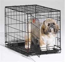 iCrate Folding Dog Crate - 24 x 18 x 19 BLACK