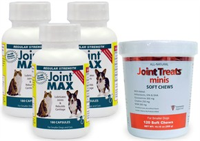 3-PACK Joint MAX RS (540 CAPSULES) + FREE Joint Treats MINIS
