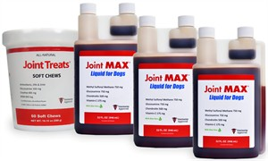 3 PACK Joint MAX Liquid for Dogs (96 fl oz) + FREE Joint Treats
