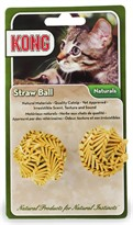 KONG Cat Naturals Straw Ball (2 pack)