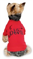 Zack & Zoey Halloween Lil' Devil Tee Red - XS (10&quot;)