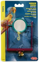 Living World Plastic Mirror Swing with Bell