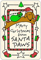 "Crunch Cards ""Merry Christmas from Santa Paws"""