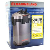 Marineland Multi-Stage Canister Filter C-360 (360 gph upto 100 gal)