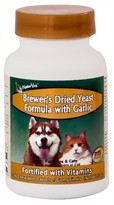 NaturVet Brewer's Yeast & Garlic (100 Tabs)