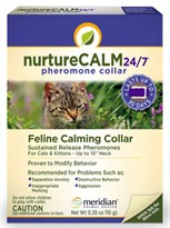 "NatureCALM 24/7 Feline Calming Pheromone Collar (Upto 15"" Neck)"