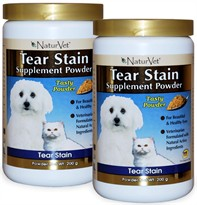 2-PACK Naturvet Tear Stain Supplement  (400 grams)