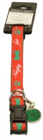 Zack & Zoey Naughty or Nice Collar 14-20in (RED)