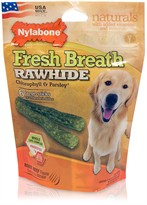 Nylabone Fresh Breath Rawhide Chlorophyll & Parsley - Beef (6 large sticks)