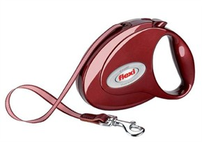 Flexi Elegance 2 Ruby Red Medium Leash for dogs up to 55 lb (16 ft)