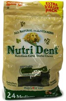 Nylabone Nutri Dent Edible Dental Chews (24 MEDIUM/ 22.8 oz) -Extra Value Pack