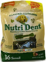 Nylabone Nutri Dent Edible Dental Chews (36 SMALL / 17.7oz) - Extra Value Pack