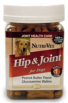 Nutri-Vet Hip and Joint Peanut Butter Flavor Wafers (8 oz)