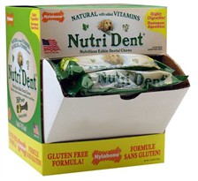 "(Box of 60) Nylabone Nutri Dent Edible Dental Brush Chew - Small (3"")"