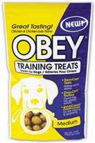 Stewart OBEY Training Treats for Dogs (Chicken & Chicken Liver Flavor) Medium