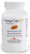 Omega-Caps HP Snip Tips for Medium & Large Breeds (60 Caps)