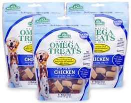 3 PACK Pet Botanics Healthy Omega Treats - Chicken (18 oz)