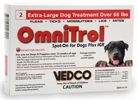 2 Omnitrol Red Spot-On for Extra-Large Dogs Plus IGR over 66 lbs