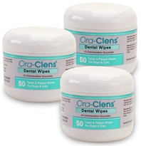 3 PACK Ora-Clens Dental Wipes (150 ct)