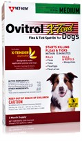 Ovitrol X-Tend Flea & Tick Spot On for Medium Dogs (32-55 lbs) - 3 MONTH