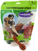 Paragon Toothbrush Star Small Dental Dog Treats (28 count)
