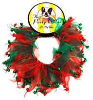 "Holiday Party Collar - Xmas Jingle Bells - XSmall (8"")"