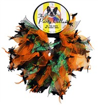 "Halloween Party Collar - Spider & Bats - Medium (12"")"