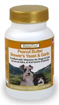 NaturVet Peanut Butter Brewer's Yeast & Garlic - 100 Chew Tabs