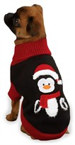 "Zack & Zoey Holiday Penguin Sweaters Black - S/M (14"")"